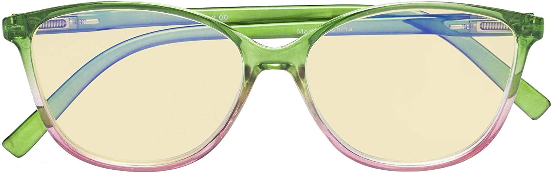 CessBlu Ladies Blue Light Blocking Glasses Oversize Cat-Eye Eyeglasses Yellow Filter Lens for Women Reading