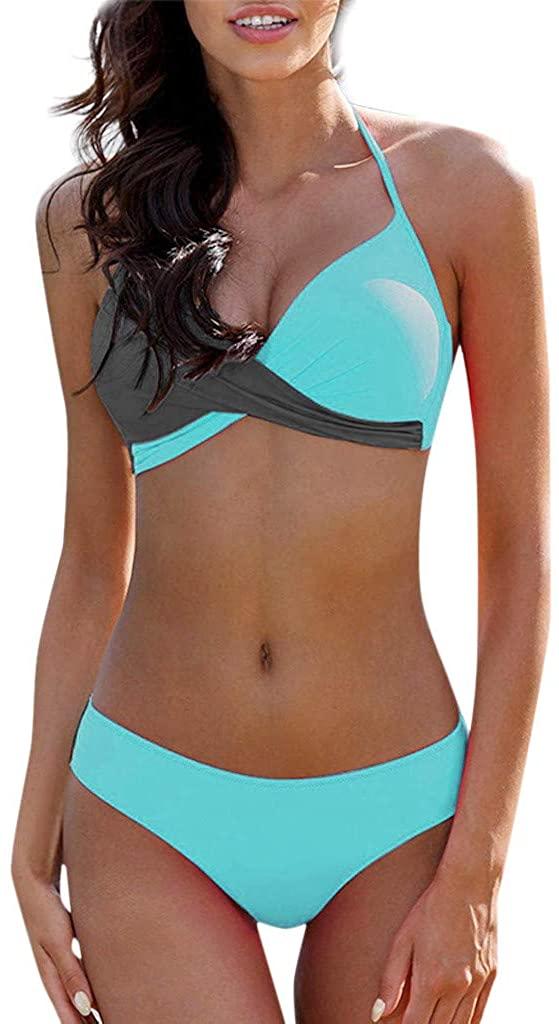 NRUTUP Womens Padded Push-up Bra Bikini Set Swimsuit Bathing Suit Swimwear Beachwear Bathing Suits