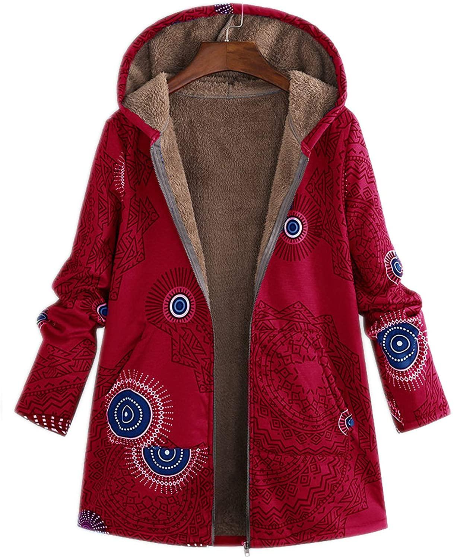 Z&A Women's Winter Warm Fleece Sherpa Lined Hoodies Winter Full Zip Sweatshirt Jacket