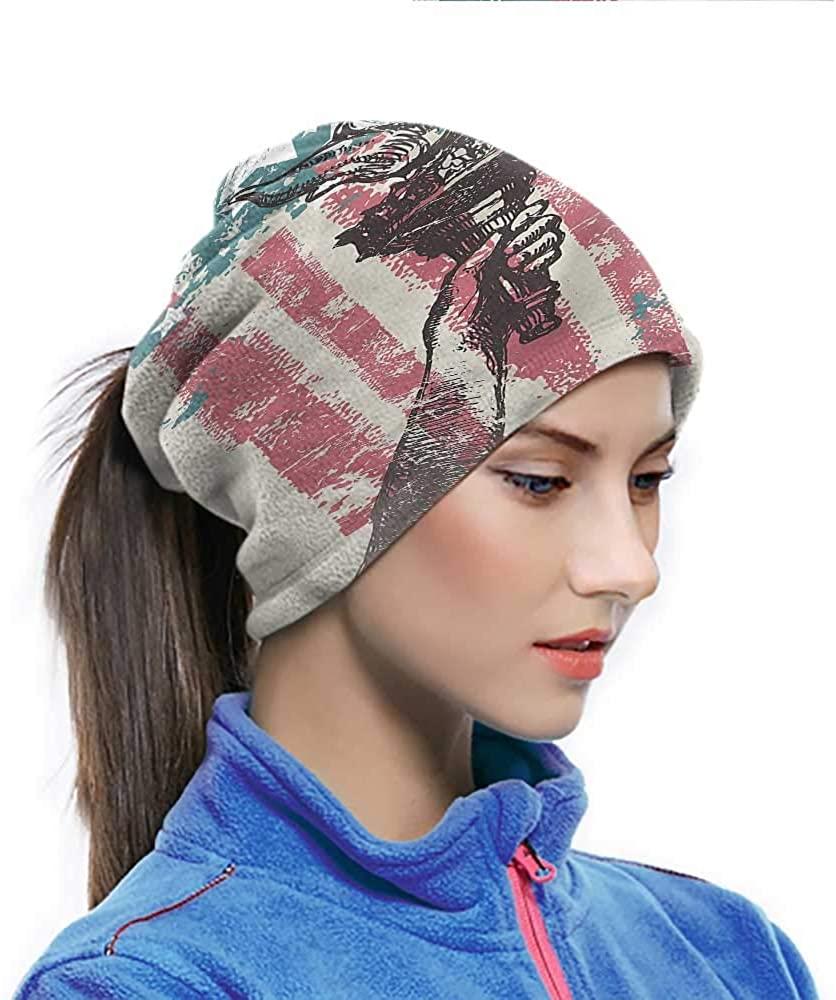 Headwear American Flag, USA Patriotic Theme Seamless Neck Gaiter Fabric Had Good Elasticity and Fit Good 10 x 11.6 Inch