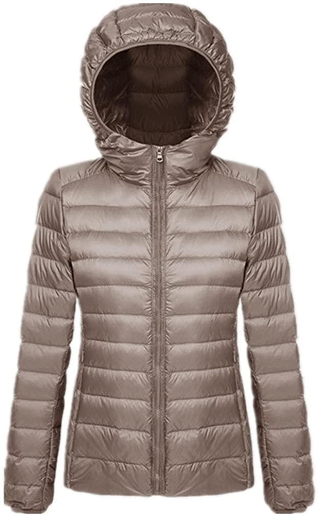 Starto Womens Hooded Packable Down Jacket Outwear Puffer Down Coats