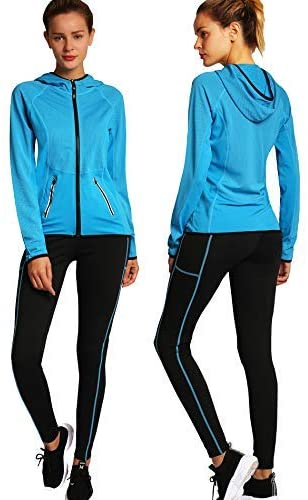 Active Wear Sets-Workout Clothes Gym Wear Track Suits Jacket Pants 2 Pieces Set