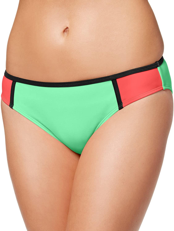 California Waves Women's Colorblocked Hipster Bikini Bottom Swimsuit
