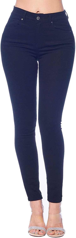 Vialumi Women's Regular Size High Waist Butt Lifting Push Up Skinny Stretchy Denim Jeans