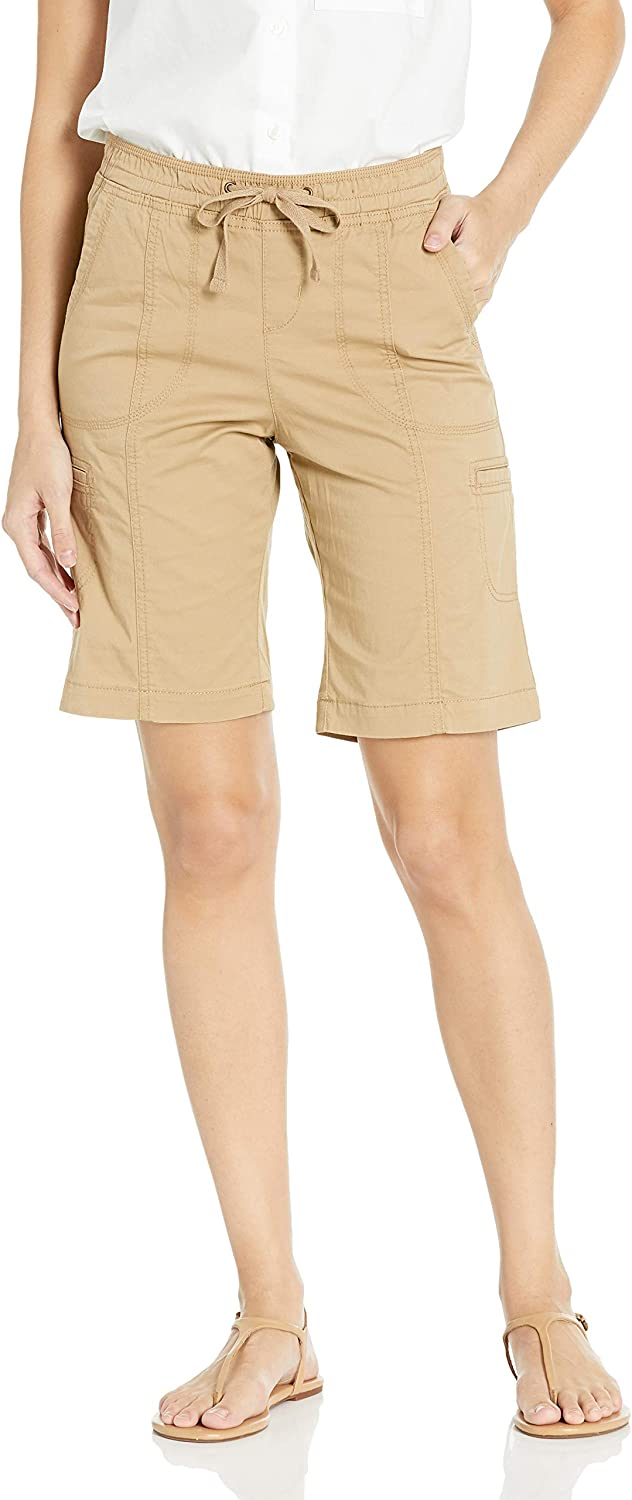 Lee Womens Flex-to-go Relaxed Fit Pull-on Cargo Bermuda Short