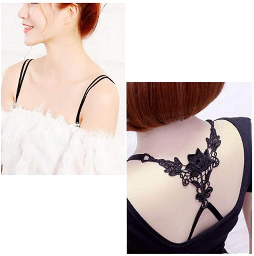 Women Underwear Shoulder Strap Back Cross Bra Straps(2 Pairs), Set J