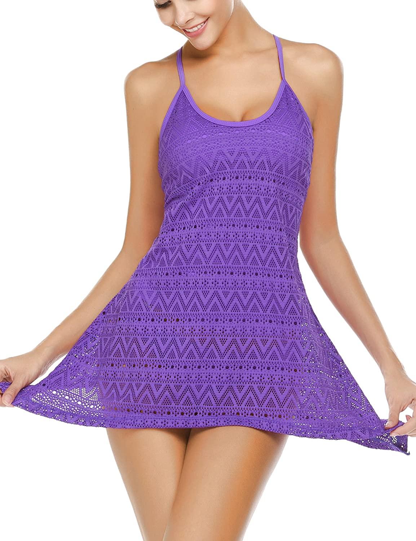 Avidlove Womens Tankini Swimsuits 2 Piece Tummy Control Bathing Suits Cover-Up Swimwear