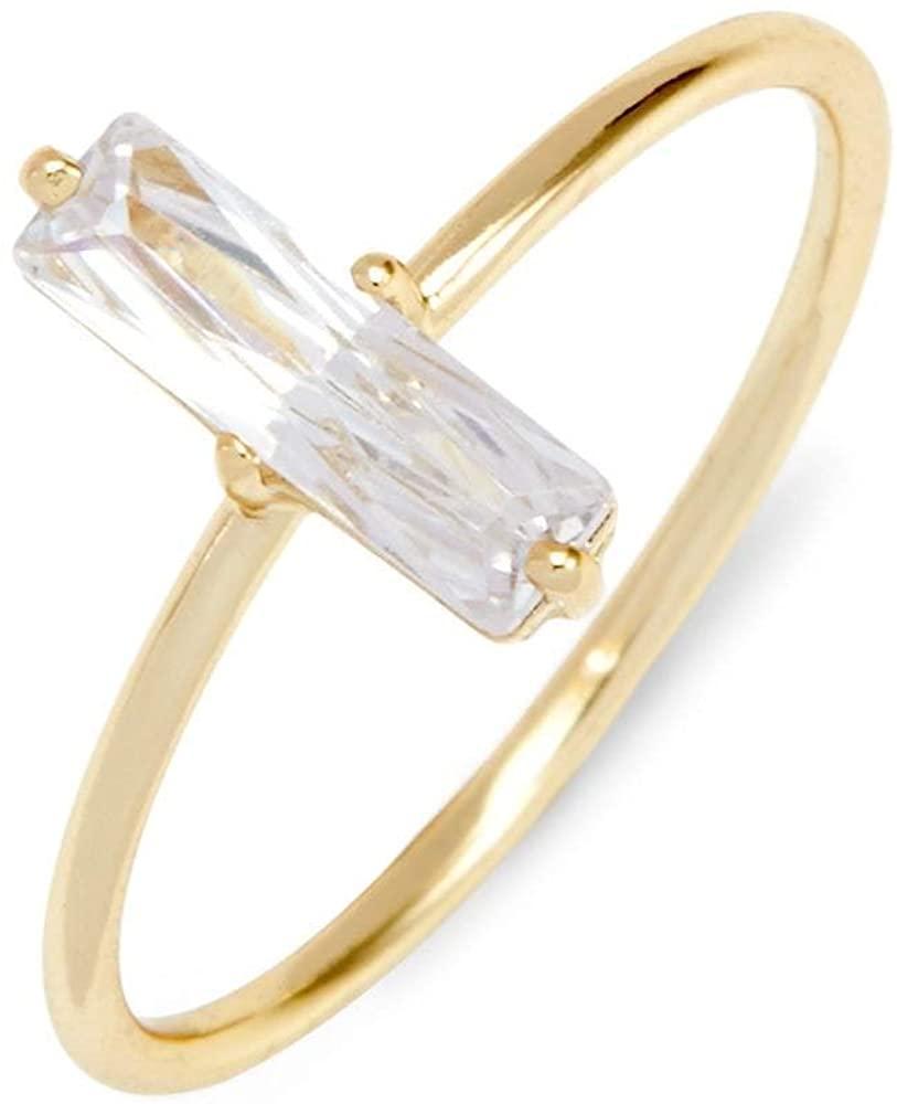 Baguette CZ Stackable Ring