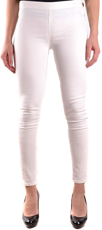 ELISABETTA FRANCHI Luxury Fashion Woman MCBI31317 White Cotton Jeans | Season Outlet