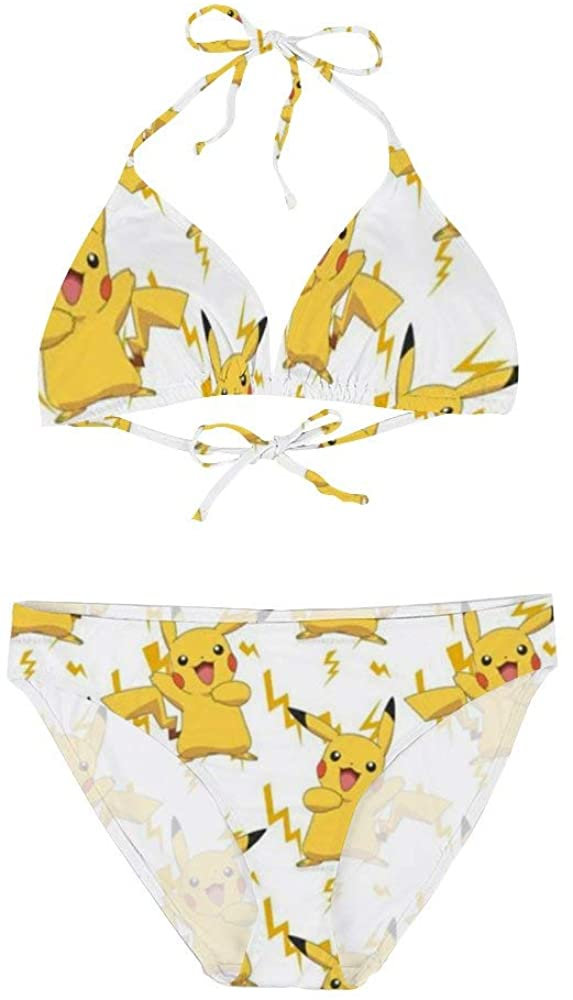 HACVREQ Pikachu Bikini Swimsuit for Women Pools Beach and Sandy Beach