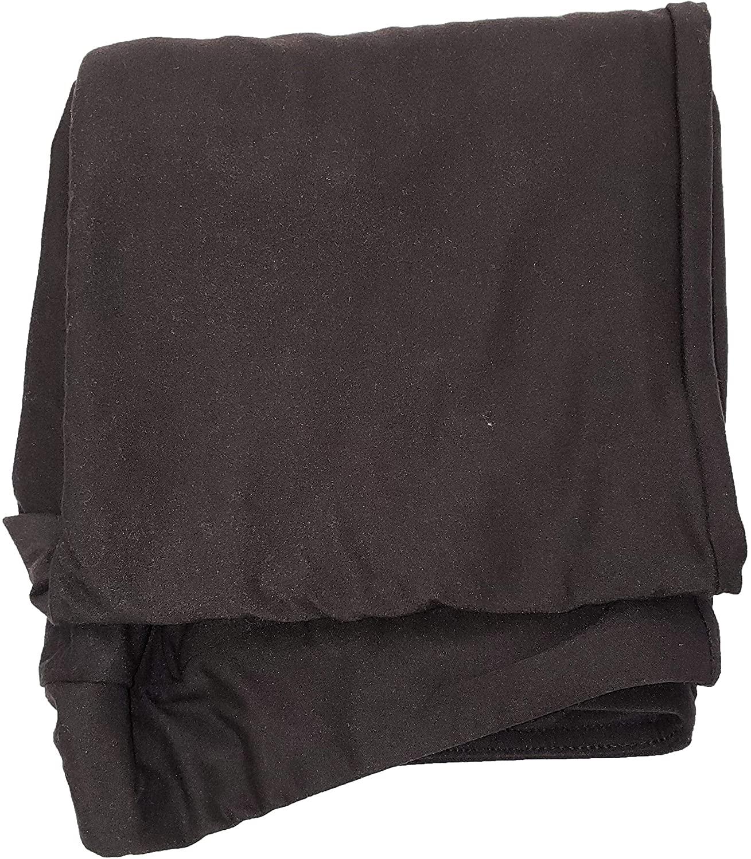 Terra & Sky Black Soot Super Soft Sueded Plus Size Capri Legging