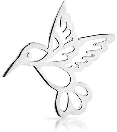 Sterling Silver Openwork Hummingbird Embellishment Charm 10.5x10.25mm - 1 Pc (12043)/1