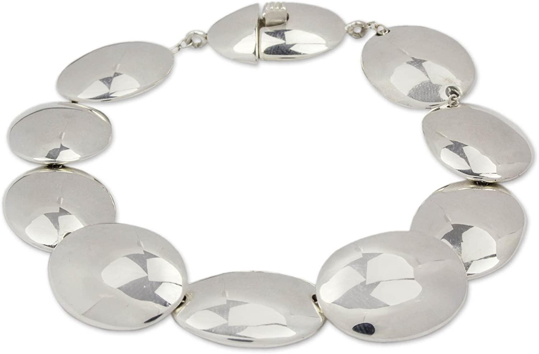 NOVICA .925 Sterling Silver Link Bracelet, 7.5