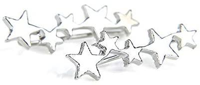 Harva Tiny Star Ear Climber Stud Earrings for Women Teen Mothersday Punk Birthday Gift Jewelry Earring Minimalist Ear Crawler Jewelry - (Metal Color: Silver)