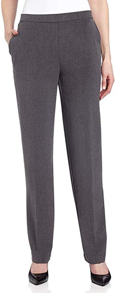ZEFOTIM Casual High Waist Pants, Women's High Waist Fashion Solid Long Trousers Pants Professional Female Trouse