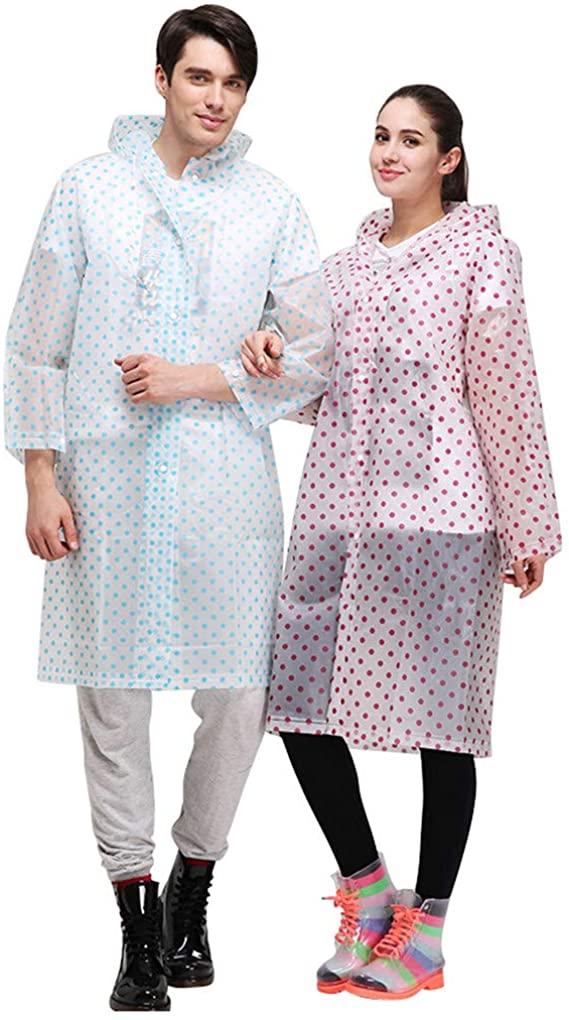 Aircee Raincoat for Women, Unisex Rain Poncho, Reusable Rainwear, Lightweight Rain Coat for Hike Camp Cycle Fish