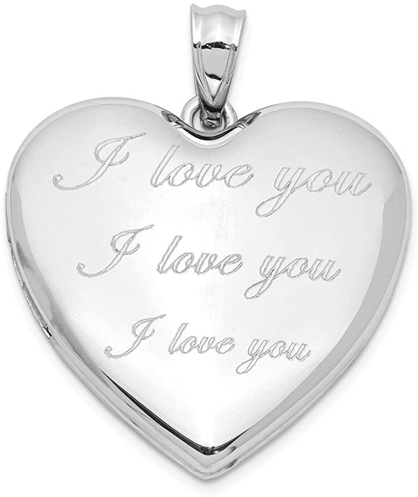 925 Sterling Silver Rhodium plated I Love You Ash Holder Heart Photo Locket Pendant Necklace Jewelry Gifts for Women