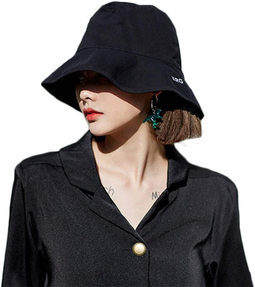 MSMIRROR Wide Brim Bucket Hat Fisherman Hat Sun Hat UV Foldable Cap For Men And Women
