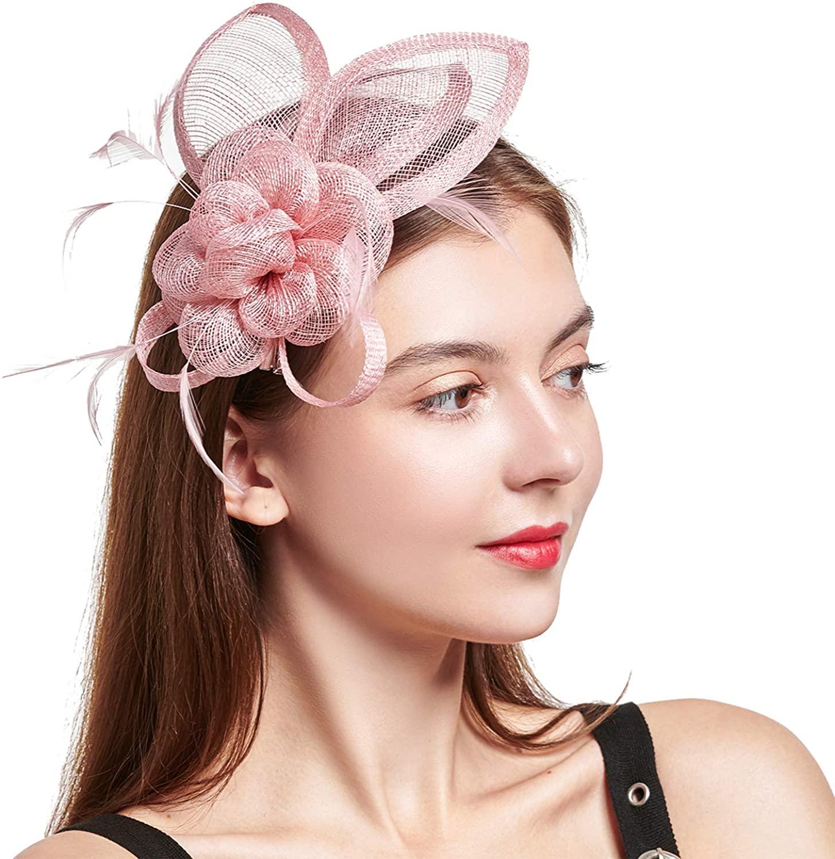 C.Garopl Accessories Fascinators Hats Women Vintage Wedding Fashion Headband Clip Church Cocktail Dresses Headwear Tea Party