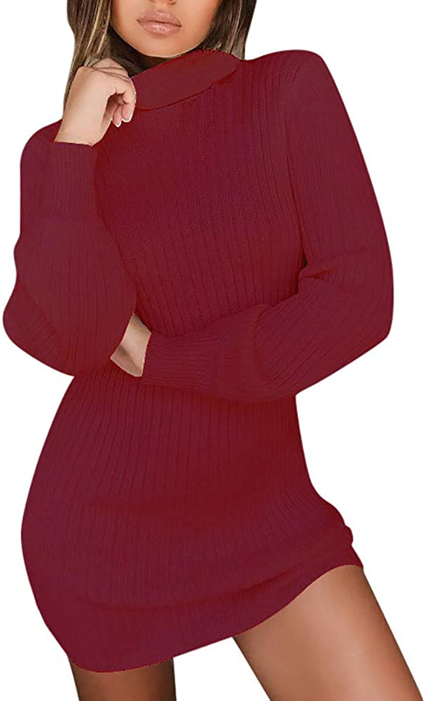 Sweatshirts for Women,Vedoaly Womens Long Sleeve Sweatshirt Casual Solid Turtleneck Sweaters Pullover Jumper Tops