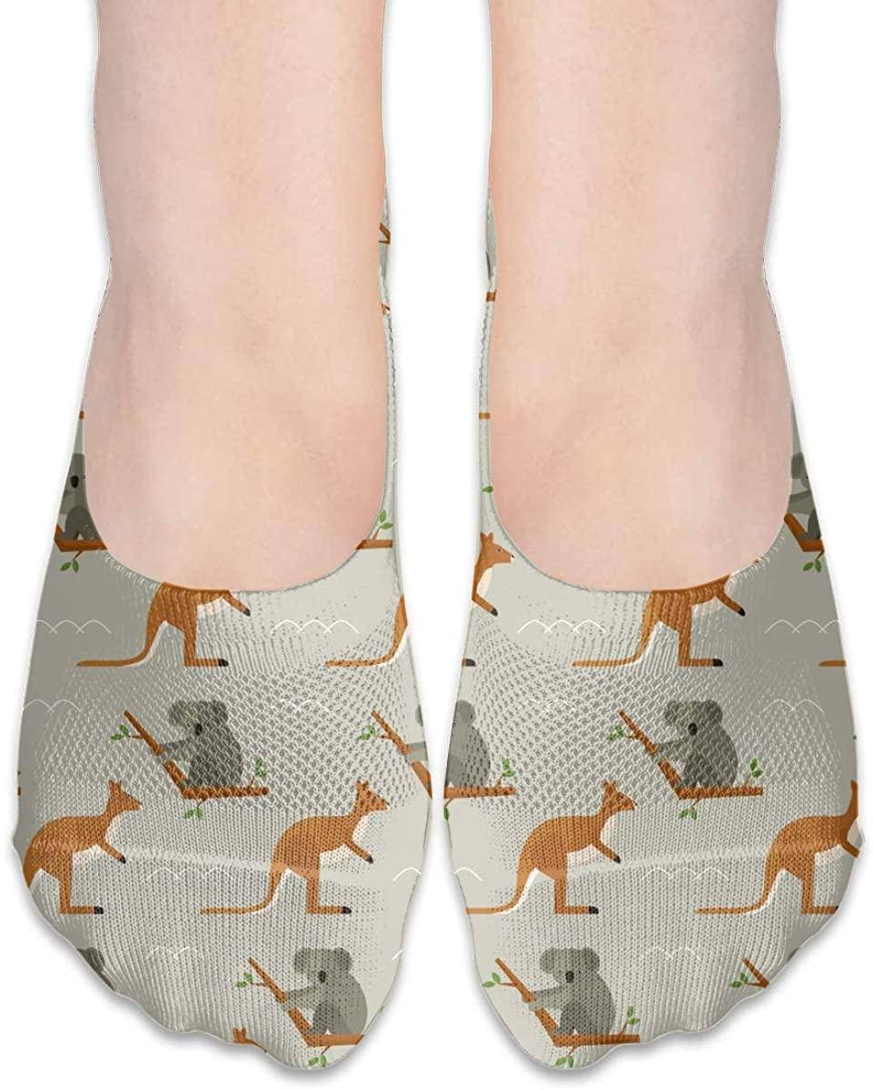 No Show Socks For Women Koala Kangaroo Low Cut Sock Liners Invisible Socks