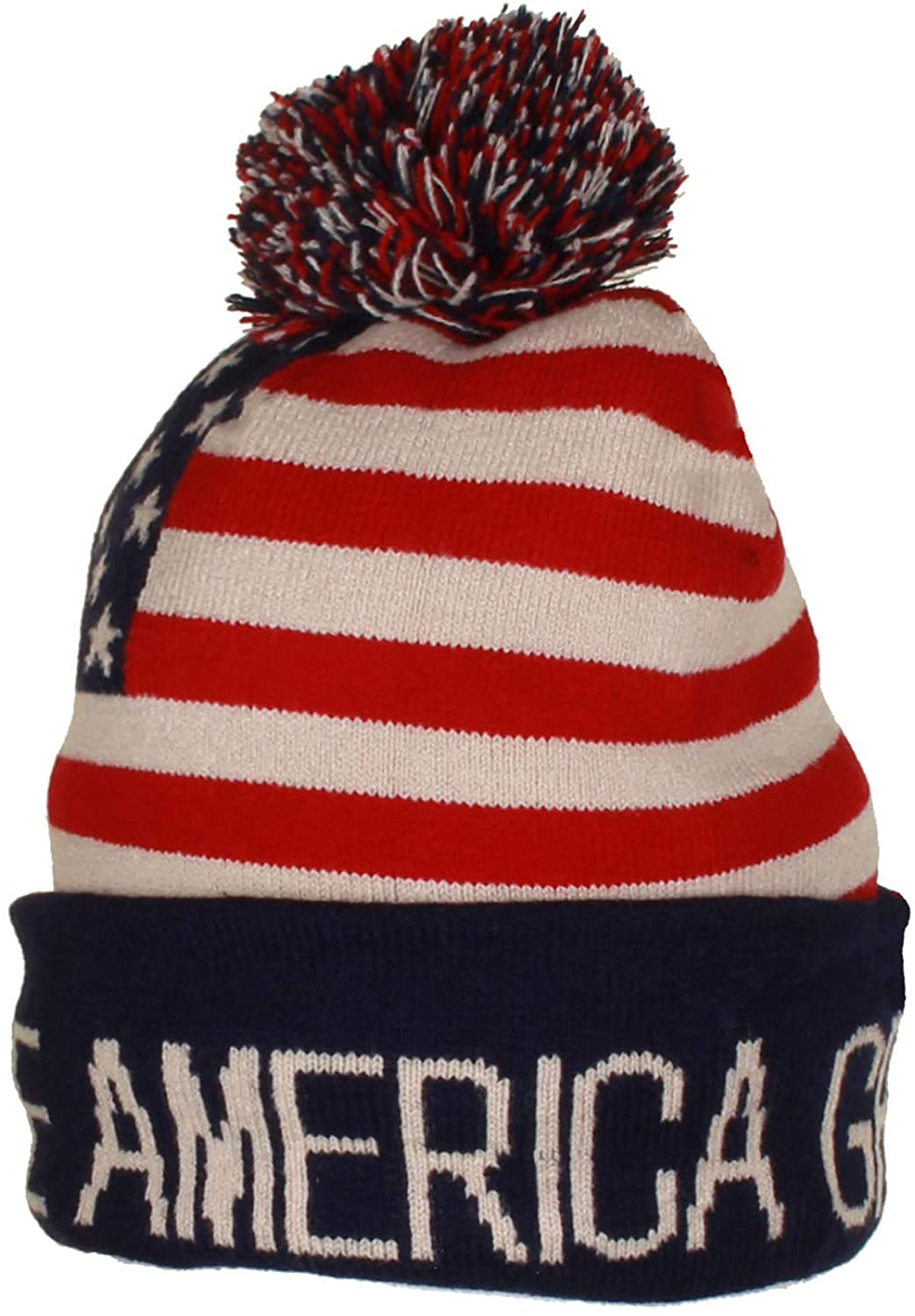 Gilbins Trump Beanie Ski Cap Hat Keep America Great Again, USA Flag Hat, Trump Beanie Hat