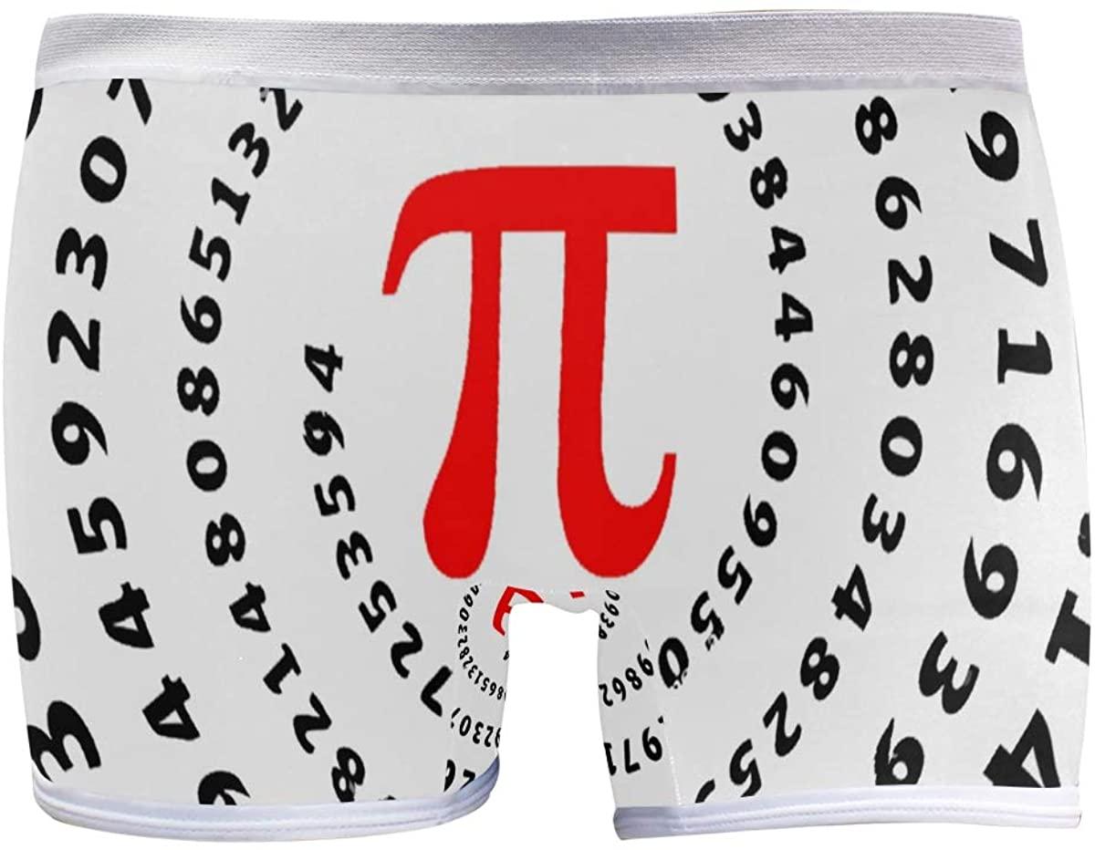 SLHFPX Cover Education Mathematics Pi Spiral Circumference for Boyshort Panties Womens Long Leg Underwear Briefs Boy Shorts