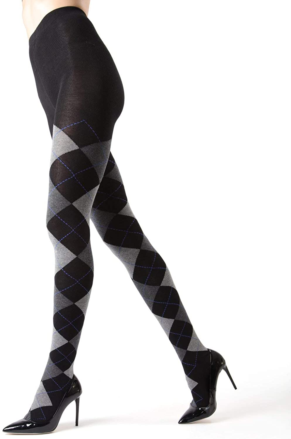MeMoi Campbell Argyle Sweater Tights | Hosiery - Pantyhose