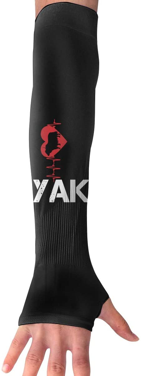 WAY.MAY Heartbeat Yak Protection Cooling Warmer Long Arm Sleeves Sunblock Protective Fingerless Gloves Outdoor Sun Sleeve