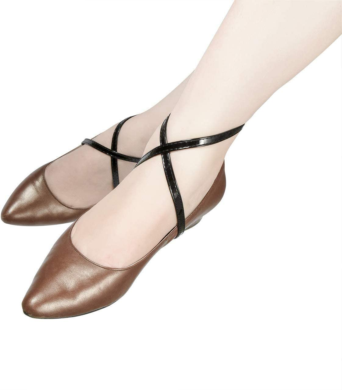 Beautyflier Women's Detachable Anti-Slip Anti-Loose Shoe Straps for High Heeled Shoes 2 Pairs