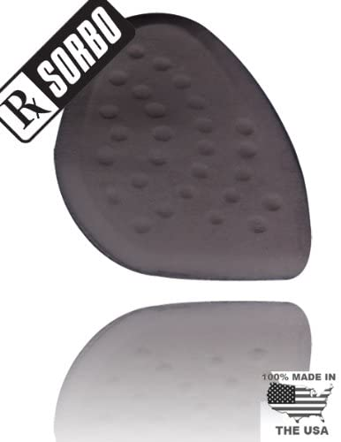 RxSorbo Insoles Sorbothane SorboGel Heel Pad (Black Fabric Over Black Sorbothane)
