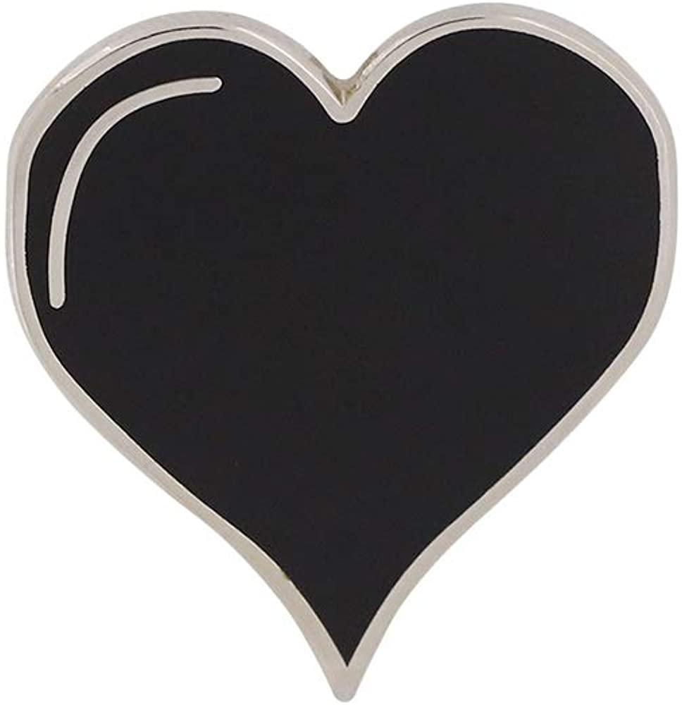 WizardPins Black Simple Colored Heart Pin