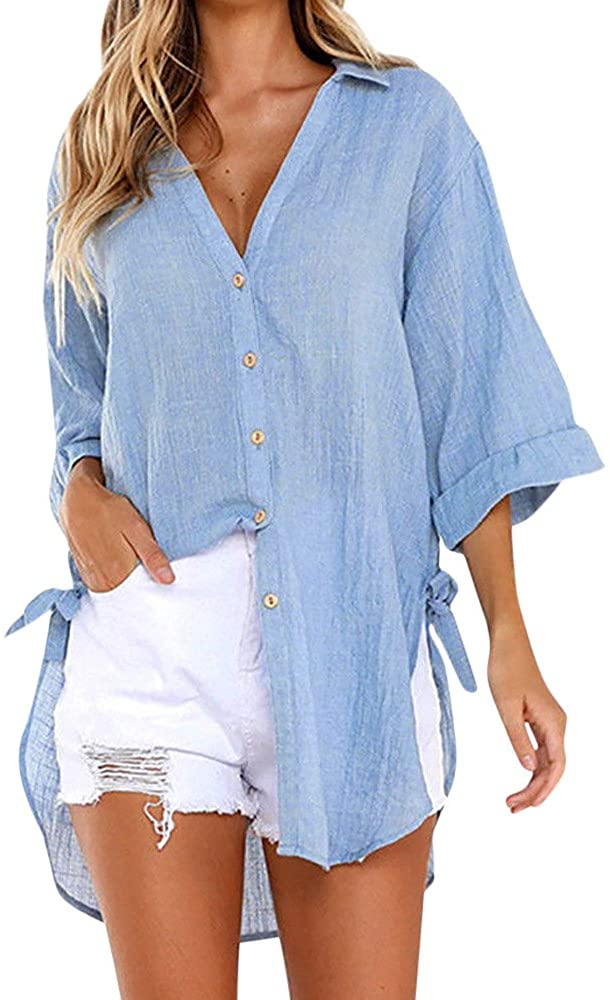 Gibobby Cover Ups for Swimwear Women Dress,Swimsuit Cover up T Shirt Button Midi Dress Summer Bathing Suit Beach Coverups