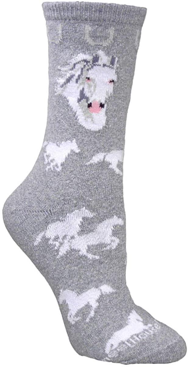 Wheel House Designs Women's White Horse Socks