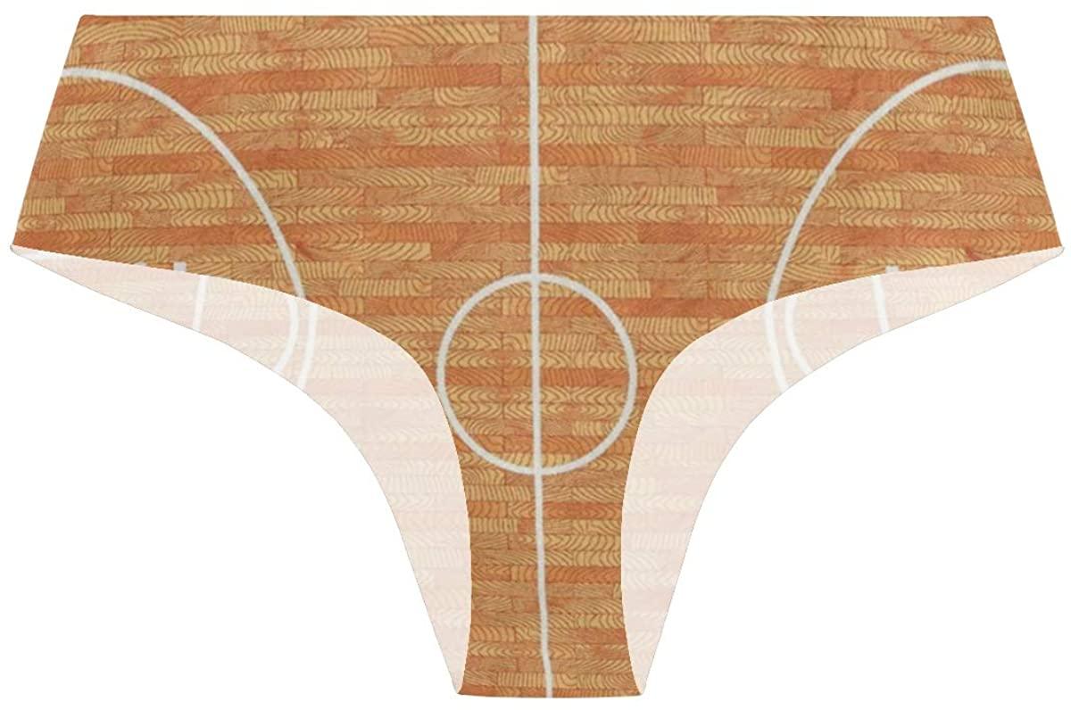Randolph Wordsworth Sport Lover Basketball Womens Stretch Seamless Underwear Laser Cut Bikini Panties