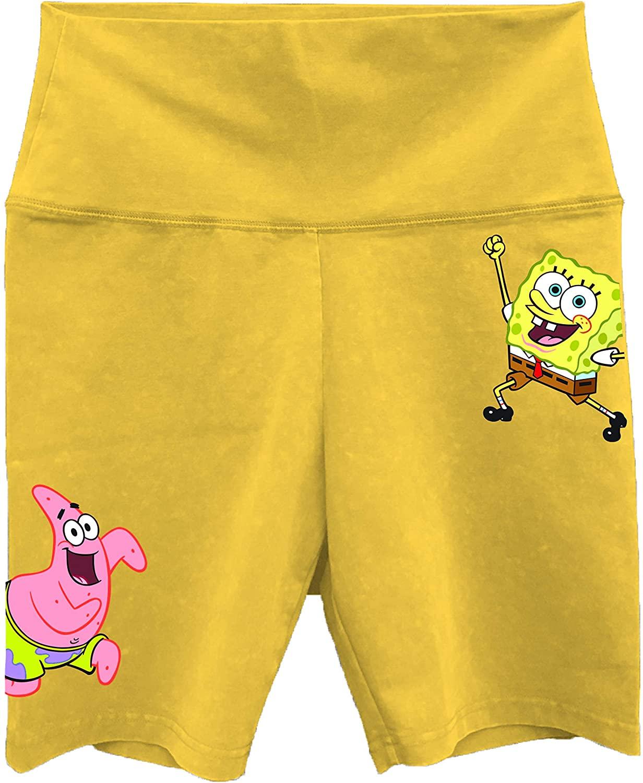 SpongeBob SquarePants Ladies Fashion Shorts Spandex Bike Shorts