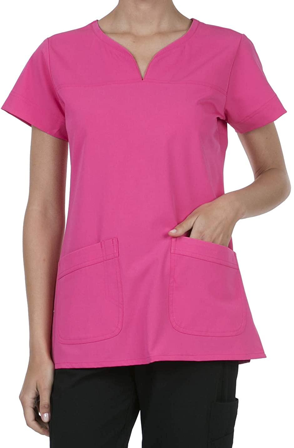 8045 Women's Uniform Scrubs Medical 2 Pocket Scrub Top Rose XXS