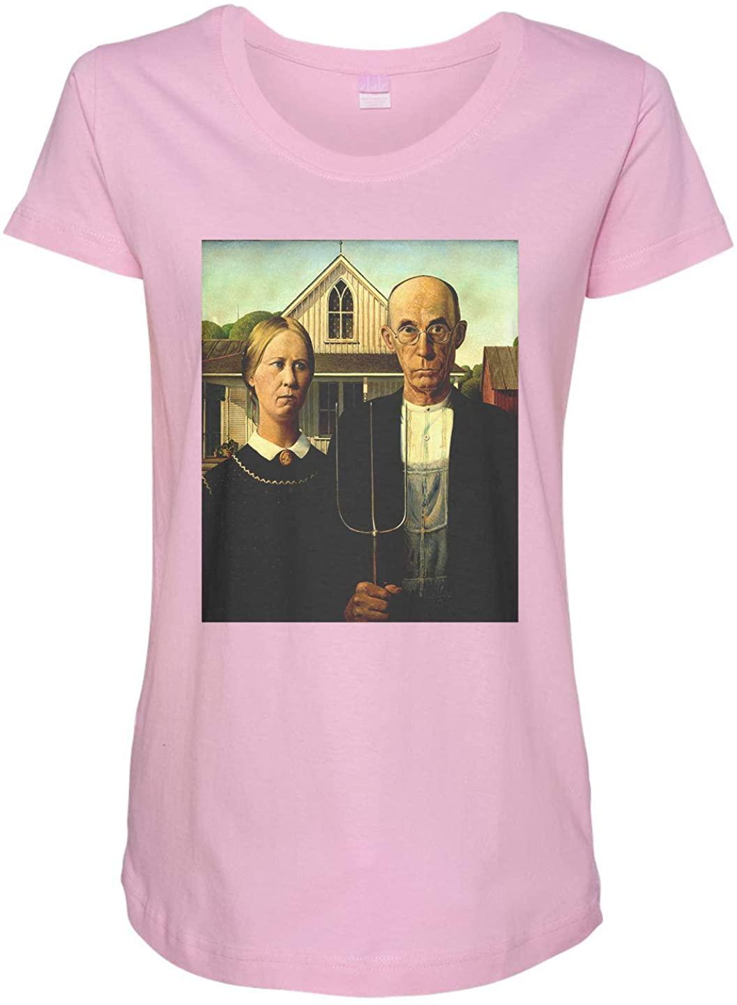 Tenacitee Ladies American Gothic Maternity Shirt