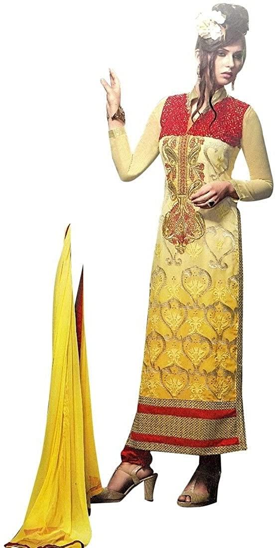 ladyline Designer Wedding Handwork Embroidered Georgette Salwar Kameez Suit