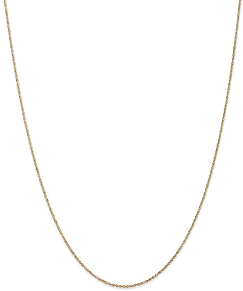 Solid 14k Yellow Gold .8mm Light-Baby Rope Chain Necklace