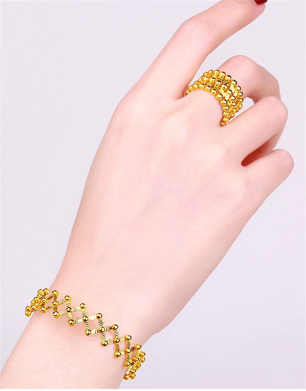 ECRISDOO Magic 2-in-1 Folding Retractable Ring Bracelet Stainless Steel Bracelet Telescopic Rings Change Bracelets Engagement Wedding Ring