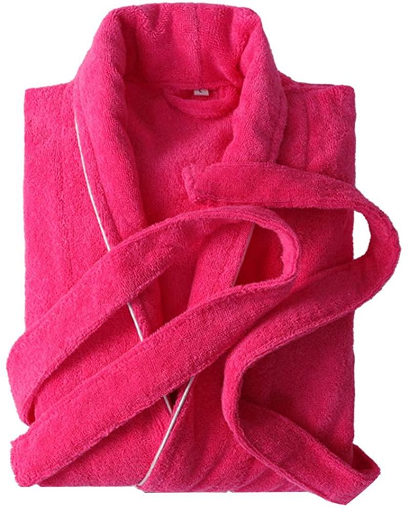 Ladies Towel Bathrobe, Super Soft Plush Bathrobe Fleece Spa Robe