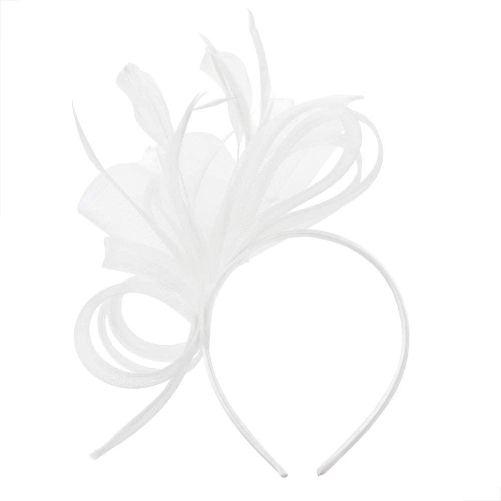 Chic Headwear Fascinator w/Side Loops Feathers