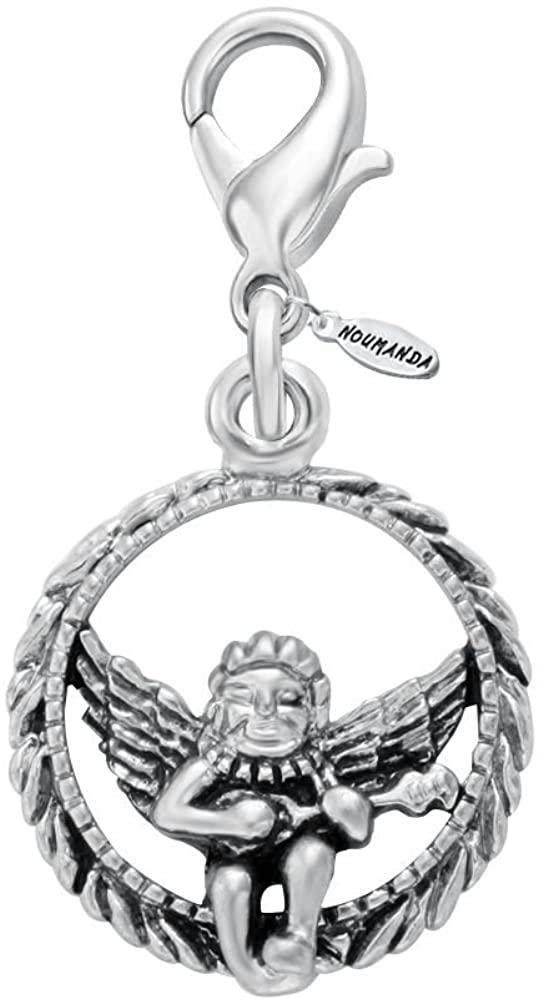 NOUMANDA Circle The Angel Jewelry Mini Cute Charm for Bracelet,Necklace,Keyring
