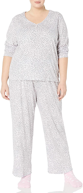 Karen Neuburger Womens Long Sleeve Pullover Pajama Set Pj