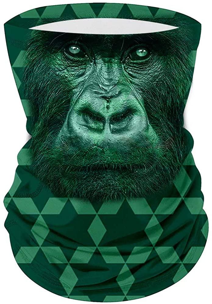Fashion Casual Face Covering Bandana Microfiber Animal Pattern Gorilla Head Magic Riding Tube