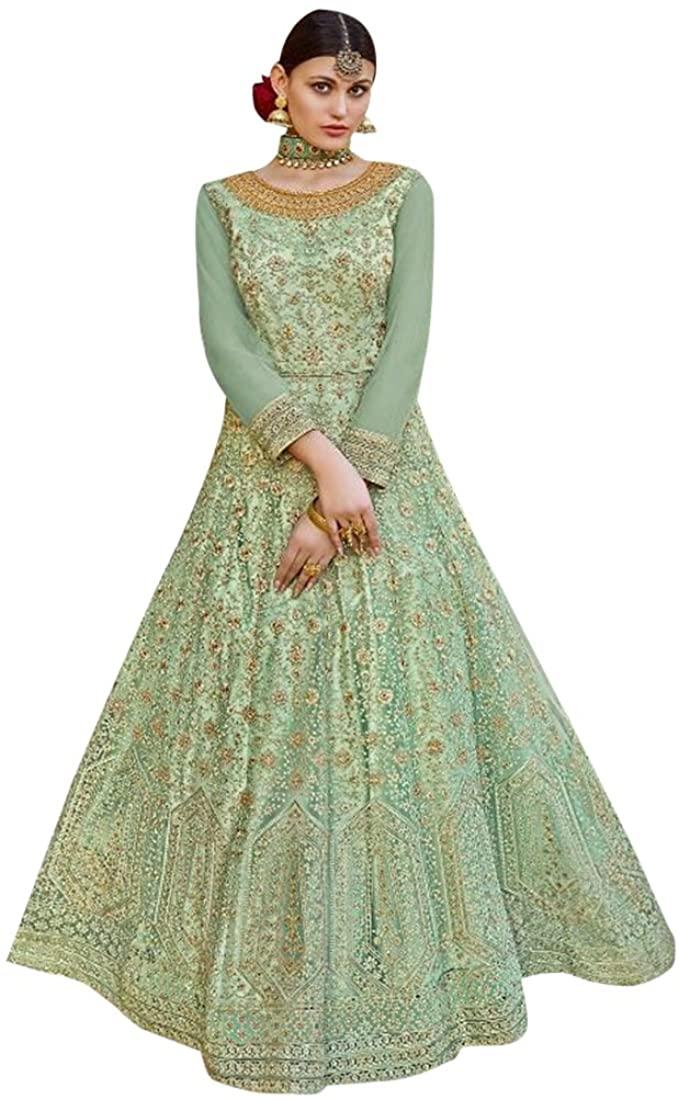 Bollywood Collection Women Floor Length Anarkali Salwar Suit Custom to Measure Indian Ethnic Bridal Wedding Ceremony Muslim Eid 2547 4