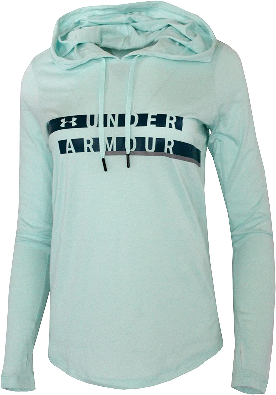 Under Armour Women's Athletic Hooded Light Cotton Blend Long Sleeve Shirt Top Hoodie