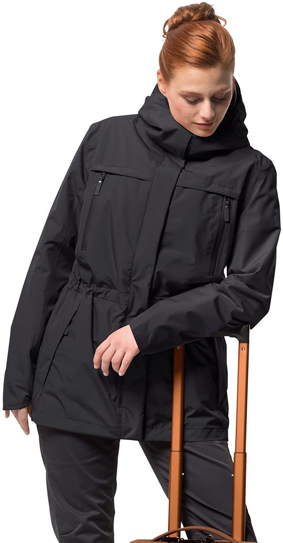 Jack Wolfskin Women's Waterproof Fairway Jacket , Black, Large