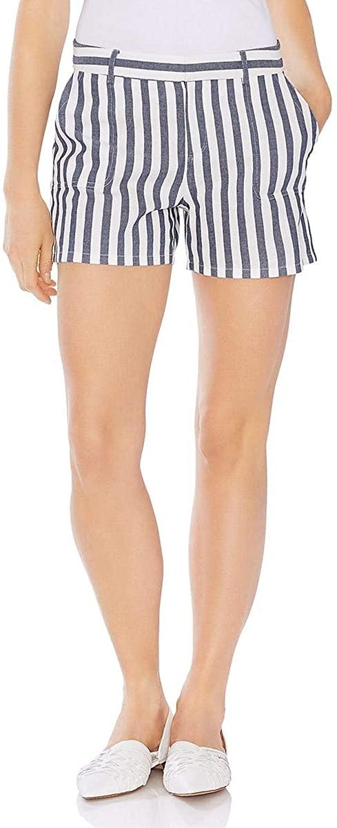 Two by Vince Camuto Women's Boardwalk Stripe Two-Pocket Shorts